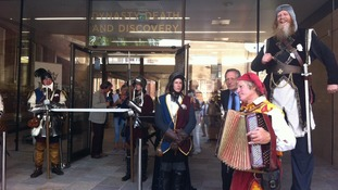 Knights in armour and medieval music were among activities on offer