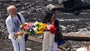 Jerzy and Angela arrive at the MH17 crash site in Ukraine.