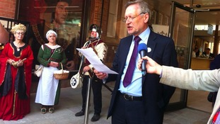 Mayor Sir Peter Soulsby opens the centre