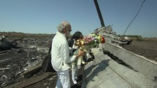Parents of MH17 passenger arrive at crash site