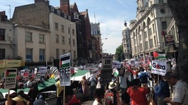 Thousands join pro-Palestine march