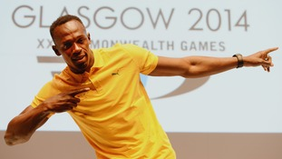Usain Bolt has arrived for the Commonwealth Games.