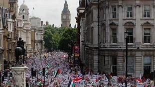 Pro-Palestine protesters