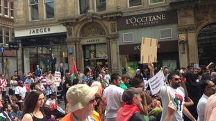 More protestors
