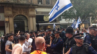 Protestors in Manchester