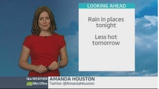 West Midlands video forecast: rain in places tonight