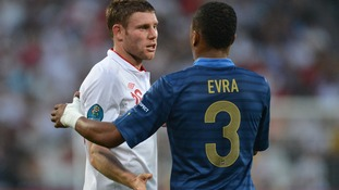 Patrice Evra and James Milner