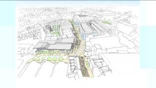 Carlisle shopping development, artists impression