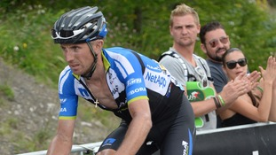 Bartosz Huzarski during the Tour de France.