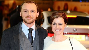Simon Pegg with his wife Maureen McCann.