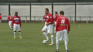 Pontypridd FC training