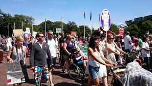 Gaza protest in Cardiff