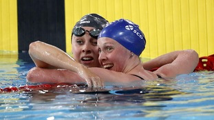 England's Siobhan O'Connor and Scotland's Hannah Miley
