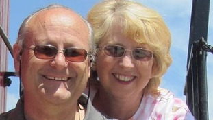 Nancy Writebol who tested positive for the Ebola virus pictured with her husband David.