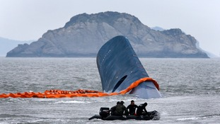 The Sewol ferry sank in April, killing 304 people.