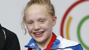 Erraid Davies took the bronze medal for Scotland in the Women's 100m Breaststroke SB9 Final.