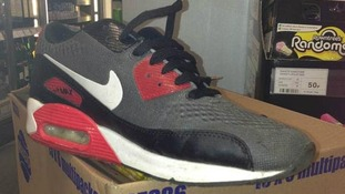 Nike trainer left at crime scene.