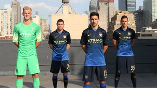 Joe Hart, James Milner, Jesús Navas and Stevan Jovetic