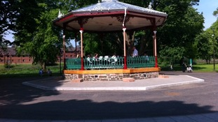 The bandstand has been the focal point of the park since the 19th century.
