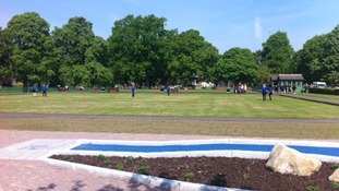 The new bowling green in Dock Park