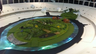 A model of the scenery for the London 2012 Opening Ceremony.
