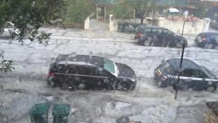 Heavy rain hammers Brighton and Hove.