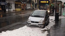 'Zombie apocalypse' hail storms hit Sussex