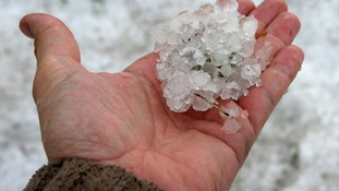 Hail the size of golf balls reportedly fell in Brighton today.