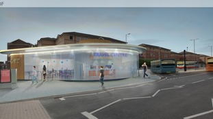 Artist impression of the new travel centre.