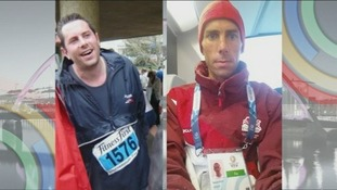 Before and after: Steve Way went from a diet of beer and cigarettes to running marathons.