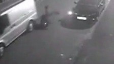 CCTV: Police officer flung from getaway van