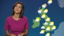 Pleasantly warm tomorrow, with highs of 27C