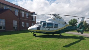 Great North Air Ambulance in operation.