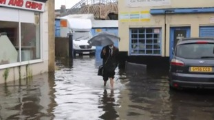 The Sussex town of Worthing was hit by floods today.