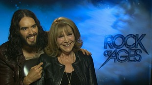Russell Brand and mum Barbara.