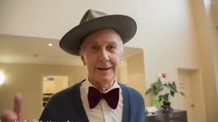 Alister even dons Pharrell's trademark bow tie in the clip.