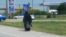 Mysterious 'Woman in Black' seen wandering US highways