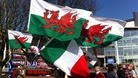 Welsh and Italian flags