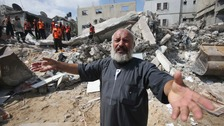 Massive explosions as Gaza hit by Israeli strikes