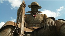The WW1 statue, called Tommy, has become a nationwide attraction.