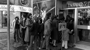Star Wars opens to british Audiences for the first time in 1977.