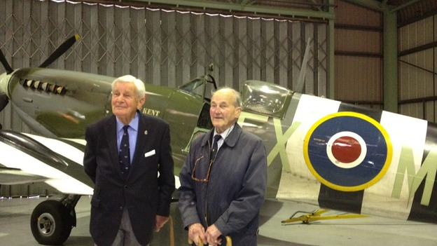 Vetarans at Spitfire launch - Biggin Hill