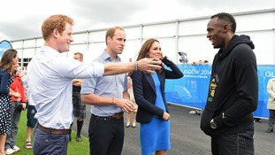 William, Kate and Harry are concluding their trip to Glasgow.
