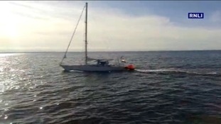 The Dutch yacht that picked up the stricken fisherman.