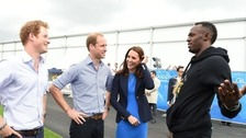 Prince Harry asks Usain Bolt: Do you workout?