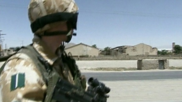 Green Howards on patrol in Afghanistan