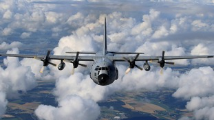 A child's body was discovered in a US Air Force C-130 similar to this one