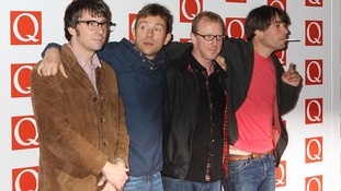 Damon Albarn, second left, pictured with Blur in 2012.