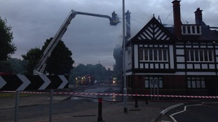 Around 25 firefighters were tackling the fire at 5am