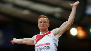 England's Greg Rutherford during qualifying for the Men's Long Jump at Hampden Park, during the 2014 Commonwealth Games in Glasgow.